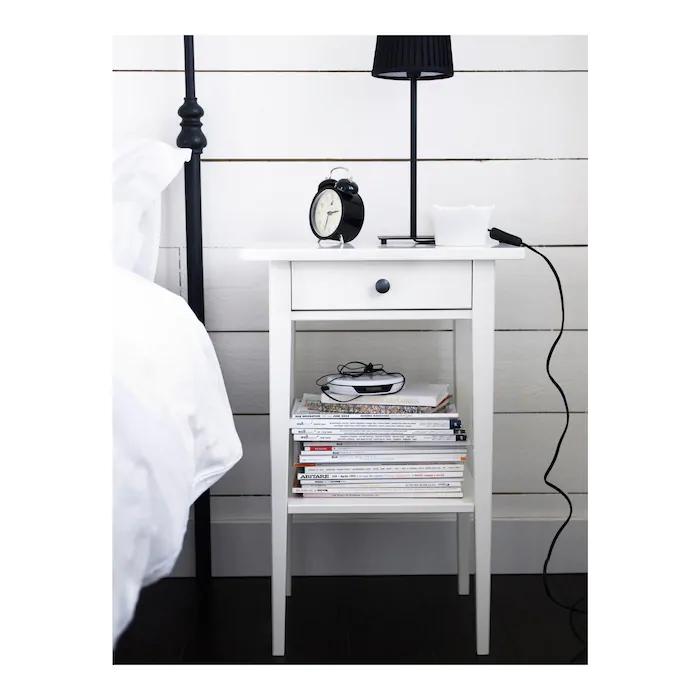 Hemnes Table De Chevet Blanc 46x35 Cm White Nightstand Hemnes Nightstand Hemnes