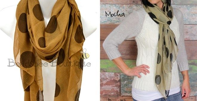 Hottest Polka Dot Scarf! 3 Colors | Jane