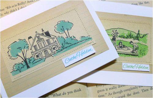 reuse of vintage images make for interesting cards
