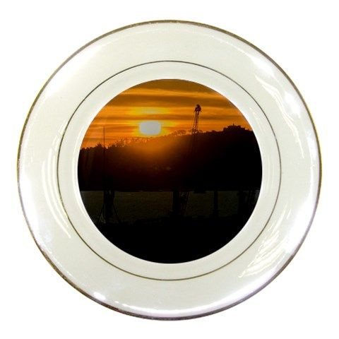 Aerial View Sunset Scene Of Montevideo Uruguay Porcelain Plates - view resume