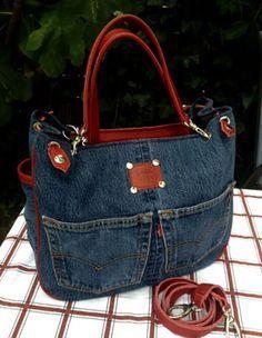 jeans taschen jeanstaschen selber n hen pinterest jeans tasche jeans und taschen. Black Bedroom Furniture Sets. Home Design Ideas