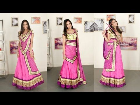 90b31330903b7 6 Ways To Drape a Dupatta - YouTube. Could be used for draping a big shawl  over Western clothes.