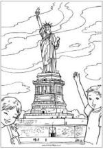 18++ Statue of liberty coloring page printable HD