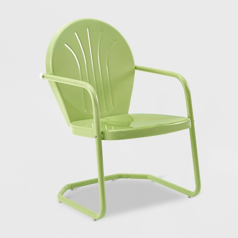 Griffith Metal Chair Key Lime Crosley Patio Dining Chairs Metal Chairs Outdoor Chairs