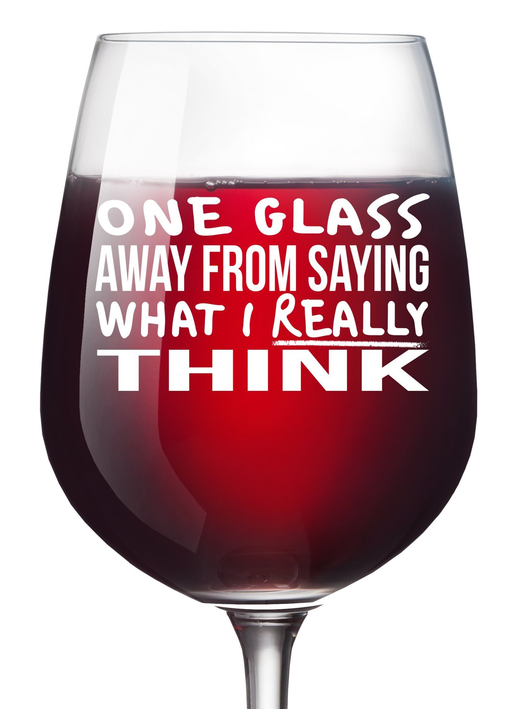 One Glass Away Funny Wine Glass Unique Wine Gifts Women Birthday Wine Gifts For Men Wife Girlfriend Sister Boss Funny Wine Glass Wine Humor Wine Glass Sayings