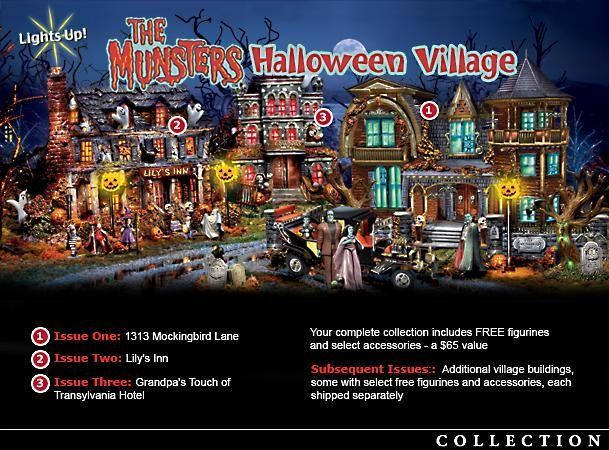 THE MUNSTERS VILLAGE COLLECTION- I NEED this!
