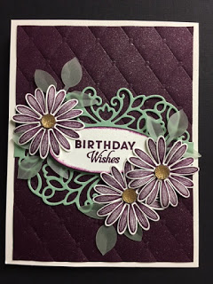 Daisy Lane, Butterfly Wishes, Detailed Bands Dies, Birthday Card #stampinup!cards