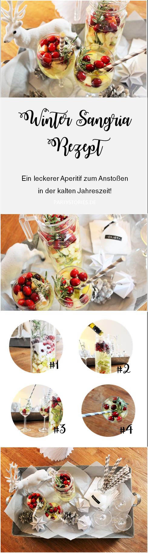 Sangria Rezept mal anders: Winter Sangria | Getränke | Pinterest ...