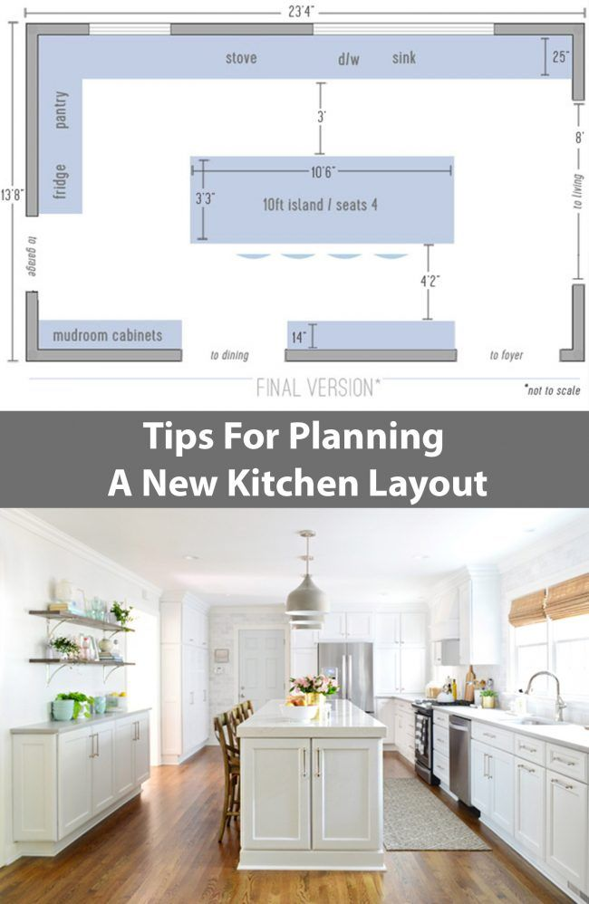 Design New Kitchen Layout Antique White Cabinets Remodel Chapter 3 The Big Reveal Our Diy Projects Tips For Planning A That S Full Of Function Looks Heckova Lot Better Too