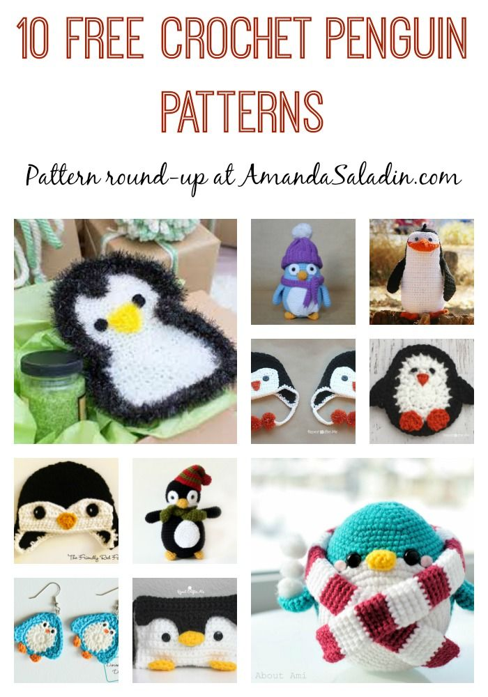 10 Free Crochet Penguin Patterns | Fieltro, Hilo y Lana
