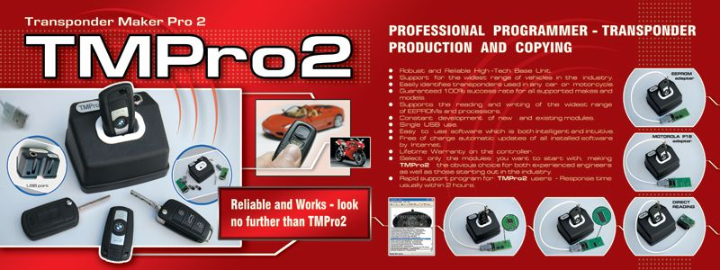 TMPro2 transponder programmer, key copier, pin code
