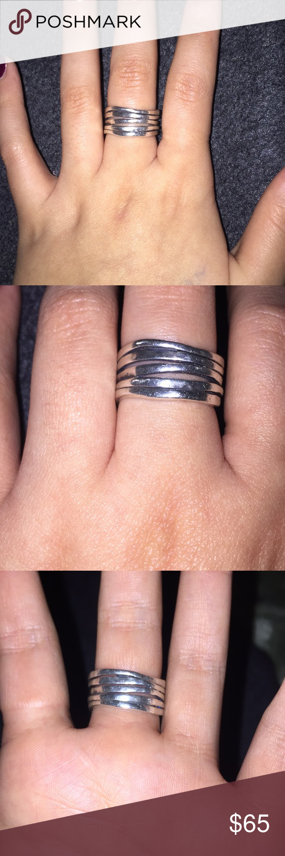 Stacked Hammered James Avery Ring   James avery rings, James avery ...