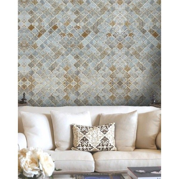 Morocco Tiles Wallpaper 210 Liked On Polyvore Featuring Home Decor Moroccan Style Accessories