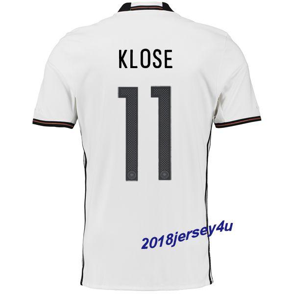 c1a3501ed12 Miroslav Klose 11 UEFA Euro 2016 Germany Home Jersey | UEFA EURO ...