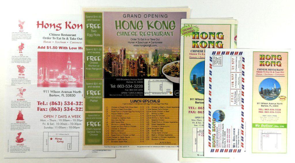 Original Menu Lot HONG KONG Chinese Restaurant Grand