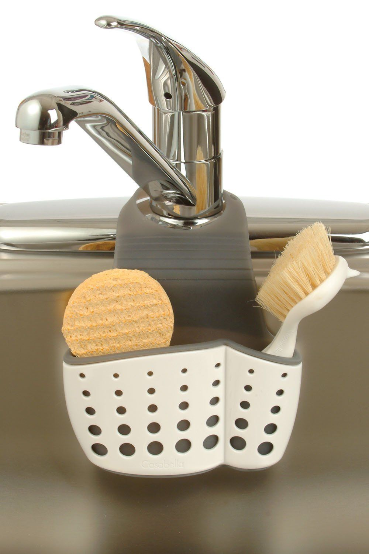 Amazon.com: Casabella Sink Sider Faucet Caddy: Home & Kitchen ...