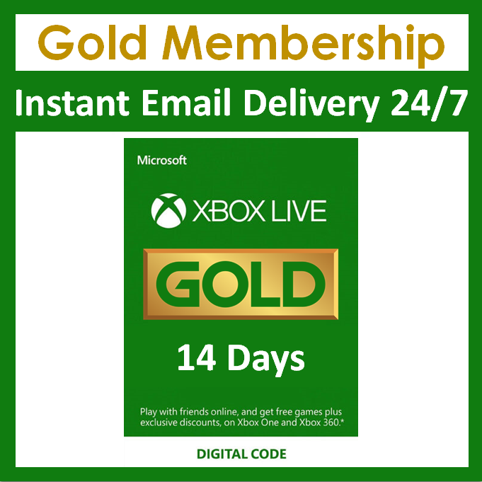 Xbox Live 14 Day Gold Trial Membership Code 2 Weeks Xbox One Instant 24 7 Microsoft Ideas Of Microsoft Microsoft Xbox Gift Card Xbox Live Xbox