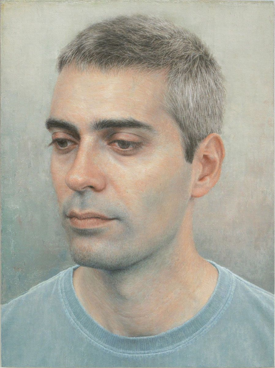 joan by robert bauer 2012 oil on canvas mounted on wood 8 1 8 x 6