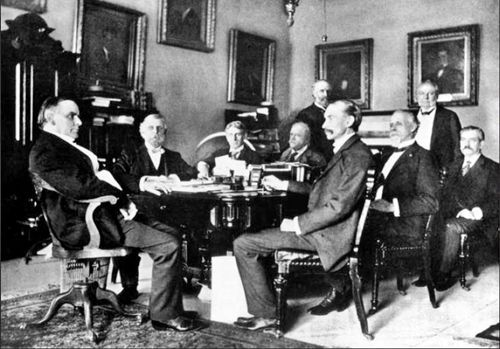 Charming President William Mckinley (LEFT) And His War Cabinet, 1898