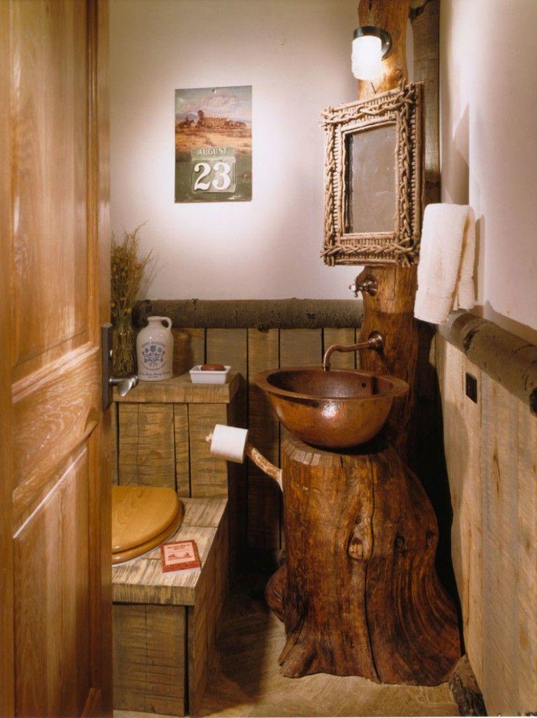 Superior Bathroom, Wooden Bowl Sink Ideas For Rustic Bathroom Ideas With Stylish  Beadboard Design: Unique