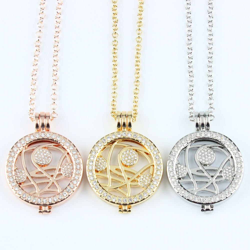 3 colors crystal monedacoin pendant necklace ball coin locket 3 colors crystal moneda coin pendant necklace ball coin locket pendant holder aloadofball