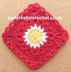 Sunburst Granny Square by Patterns For Crochet