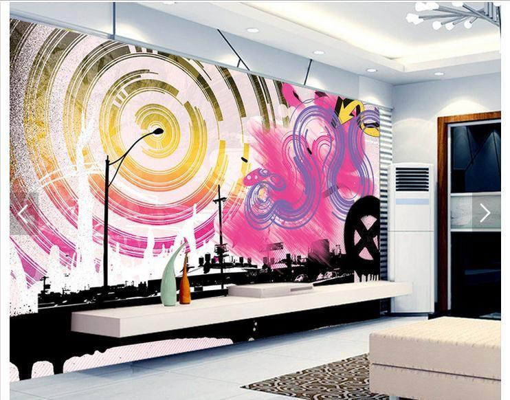 Customized 3d photo wallpaper 3d wall mural wallpaper Bar KTV room ...