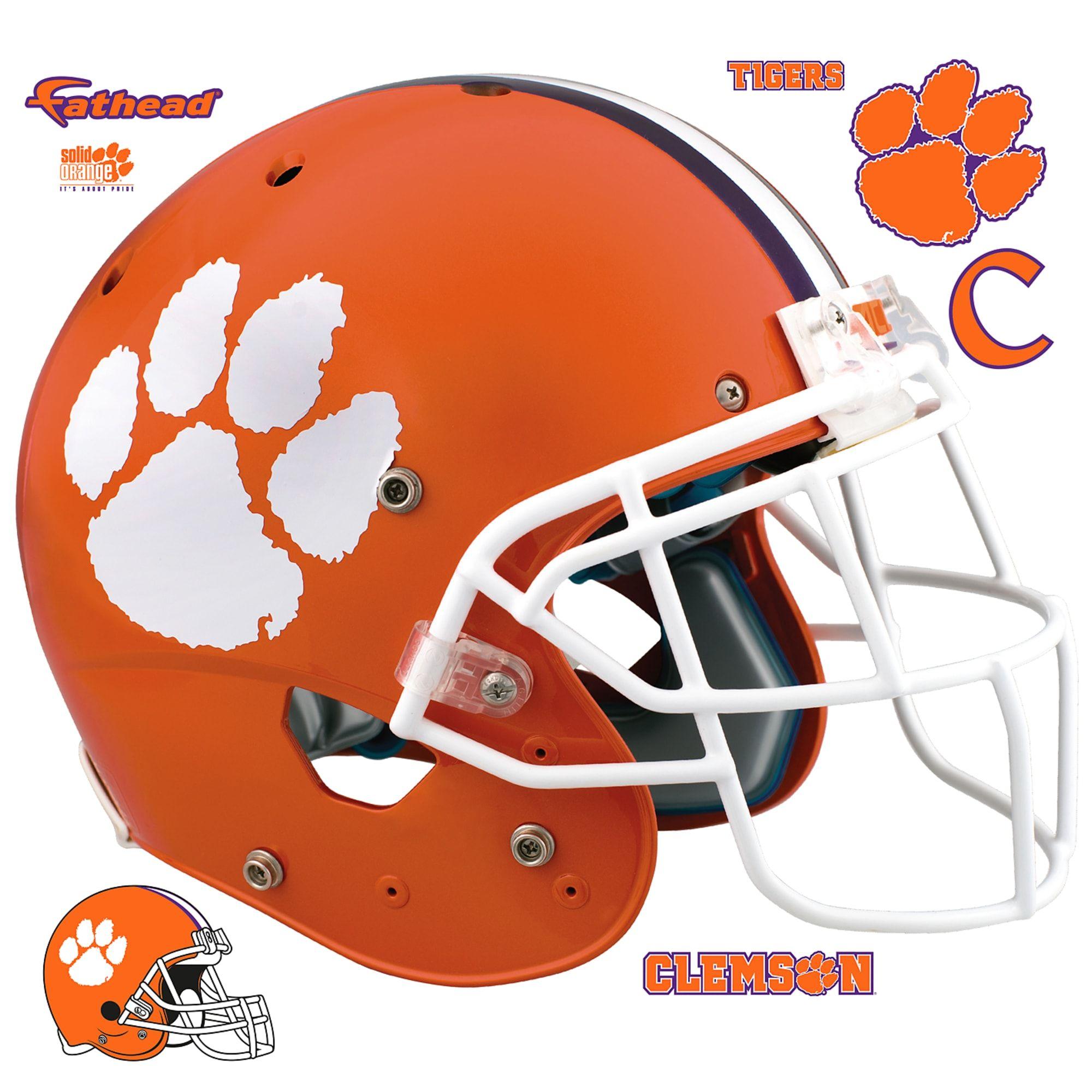 Clemson Tigers Helmet Huge Officially Licensed Removable Wall Decal Removable Wall Decals Clemson Tigers Wall Decals