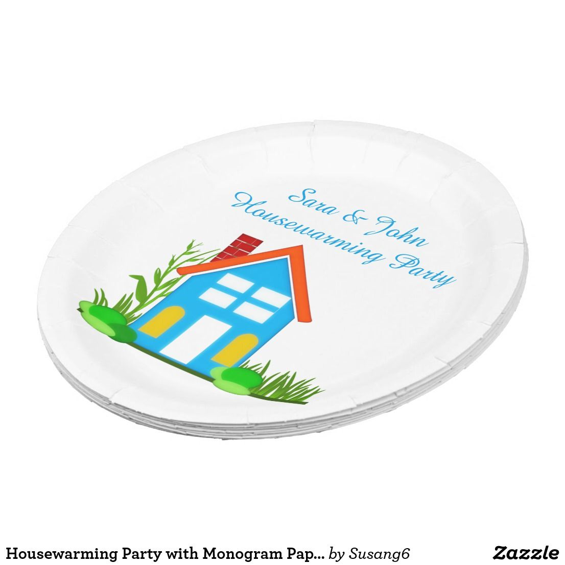 Housewarming Party with Monogram Paper Plates 9   sc 1 st  Pinterest & Housewarming Party with Monogram Paper Plates 9