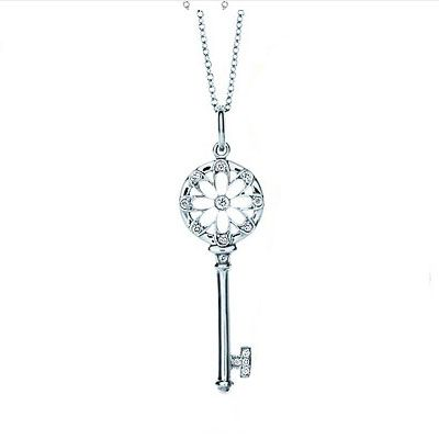 Cheap Tiffany Co Classic Tiffany Keys Floral Key Pendant For Sale Heart Necklace Tiffany Tiffany Co Heart Shaped Diamond