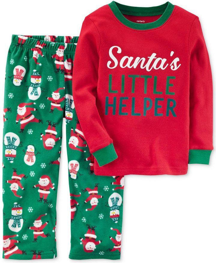 513f675fb Carter s 2-Pc. Santa s Little Helper Pajama Set