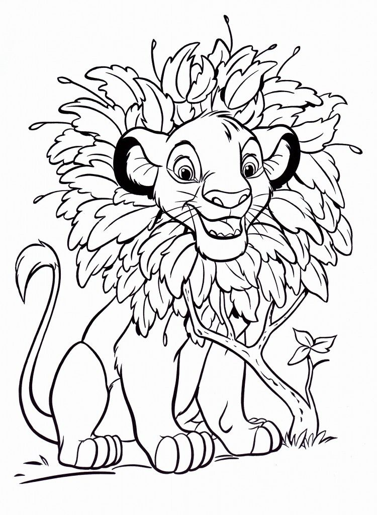 simba coloring page # 7