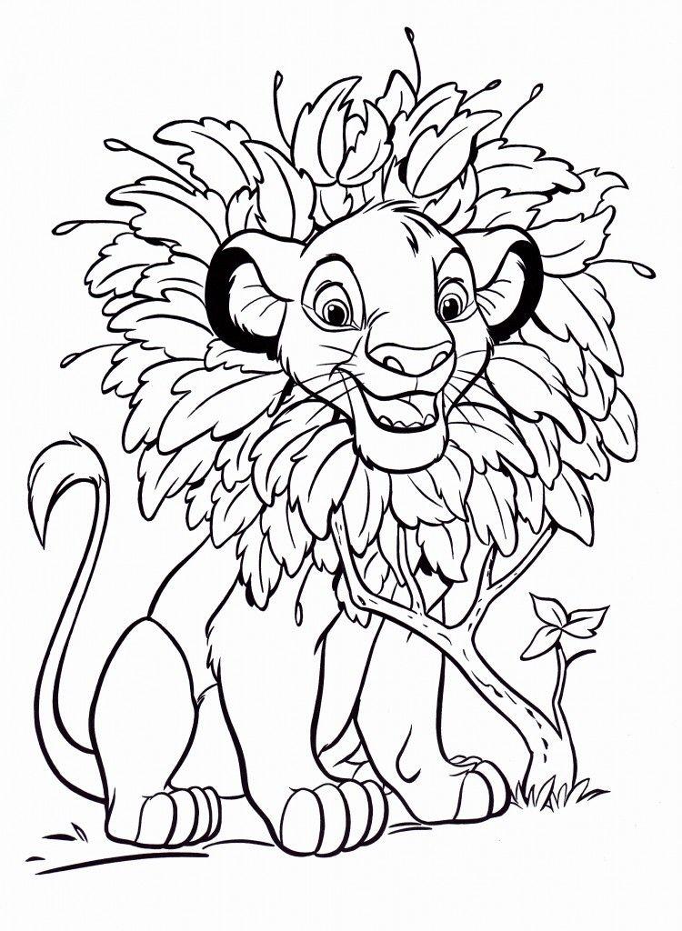 simba coloring pages Free Printable Simba Coloring Pages For Kids | Simba | Disney  simba coloring pages