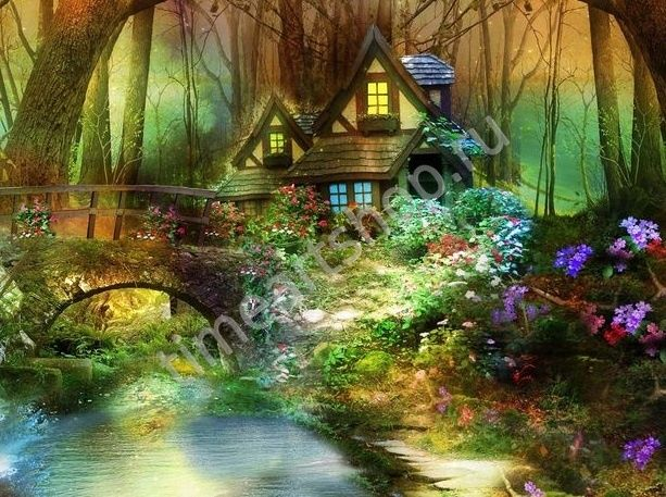 Сказочная красота леса, картины раскраски по номерам ...