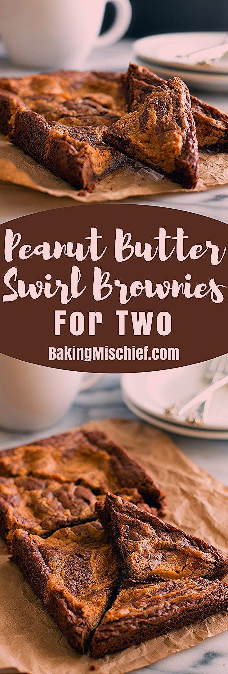 Photo of Peanut Butter Swirl Brownies for Two