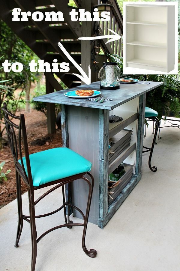 Ikea Hack From Bookcase To Bar Table Refresh Restyle Bookcase