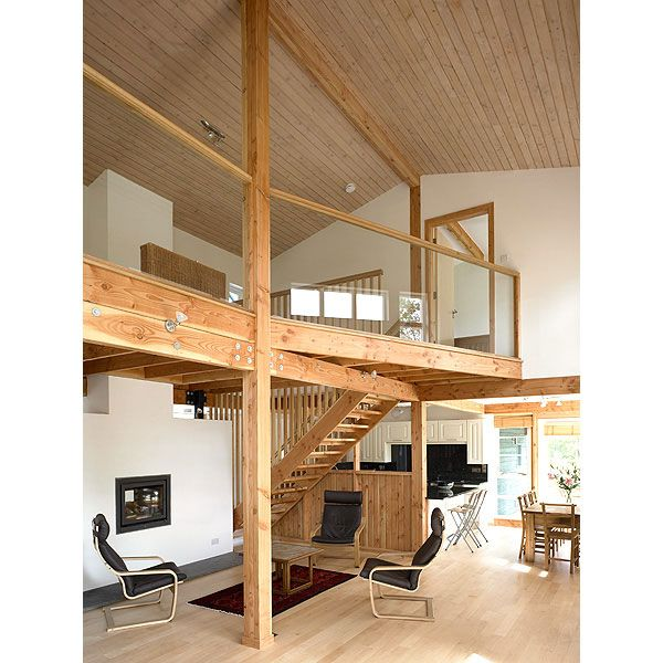 Completed Internal View Of The Double Height And Open Plan