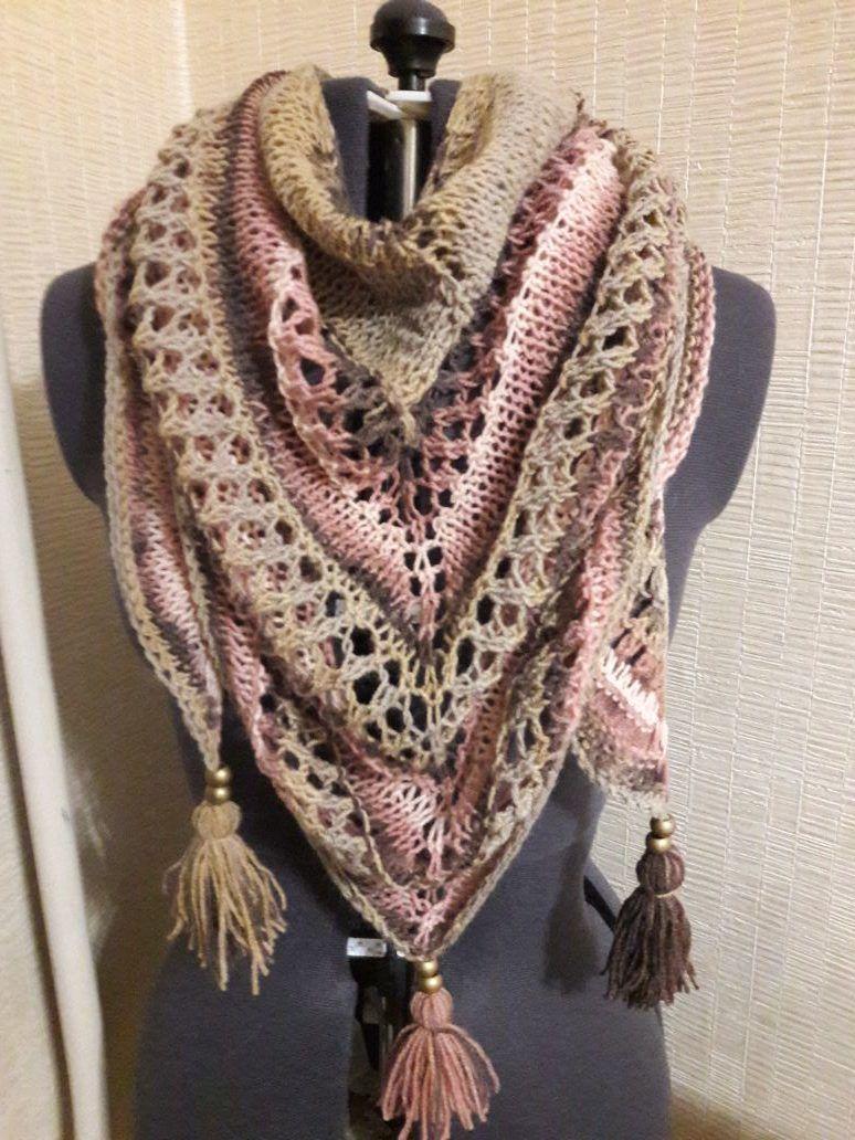Шарф вязание бактуса