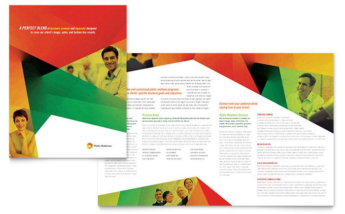 Public Relations Company Brochure Template Design by StockLayouts - company brochure templates