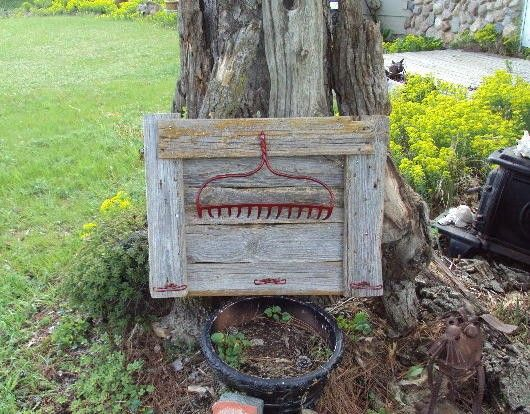 Old Barn Wood Coat Rack With Old Rake Head By Usacreations
