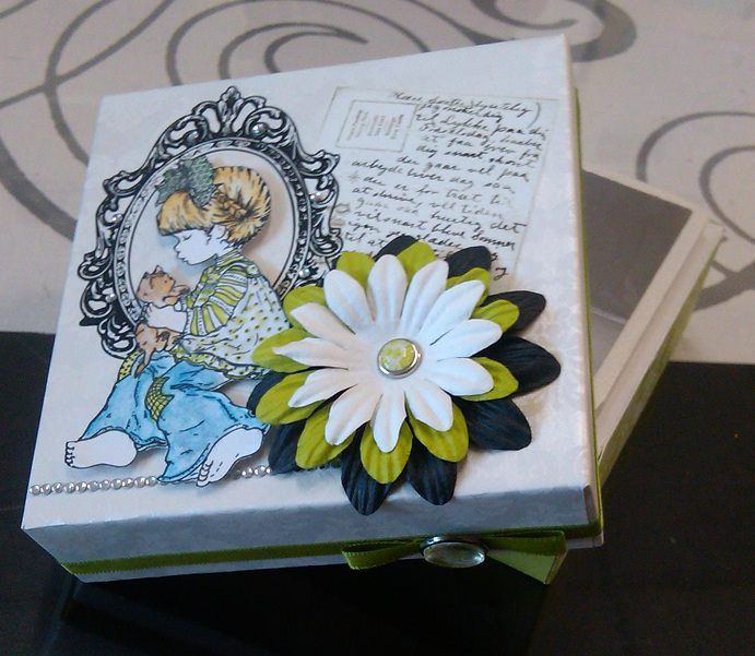 And old box.. Painted, covered in paper and decorated.