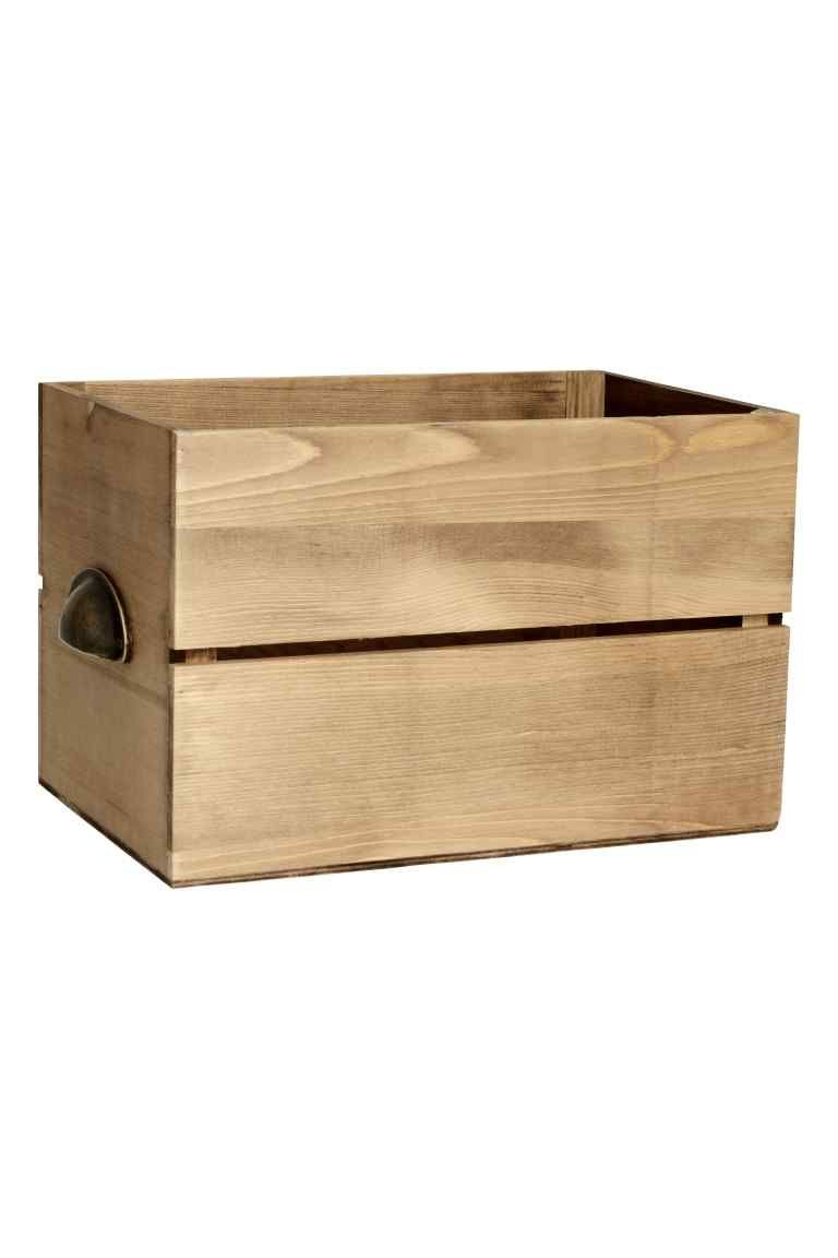 Caja De Madera Nordic Interior Basket Storage And Living Room  # Meuble Tv Roulette