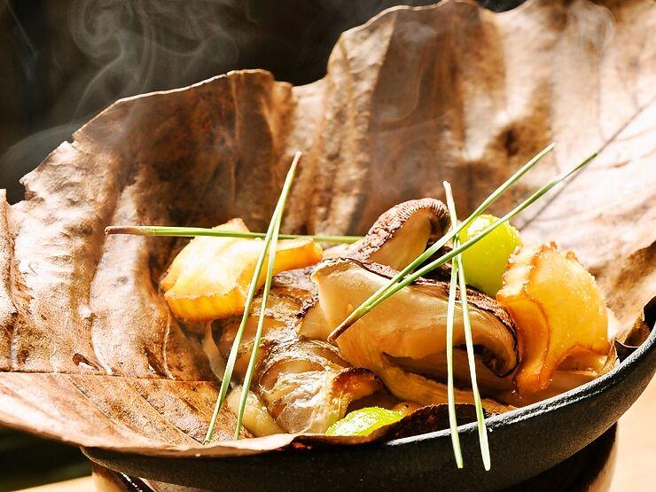 朴葉味噌焼