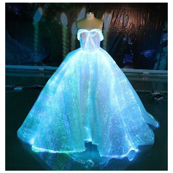 Fiber Optic Wedding Dress RGB LED Light up Wedding Gown Glow in the ...