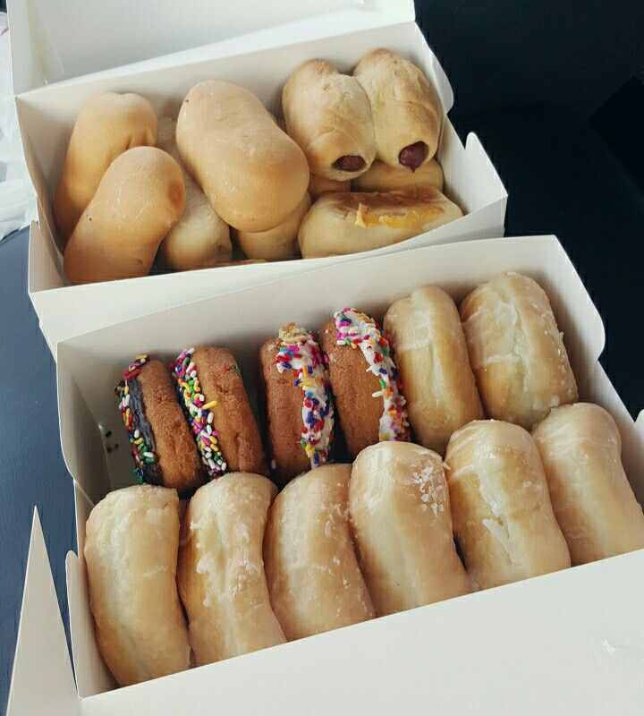 Donuts and kolaches from Snowflake Donuts in Baytown, TX.