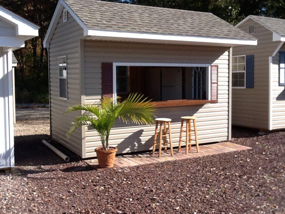 Bar sheds bar shedz pinterest bar backyard and tiki for Garden pool sheds