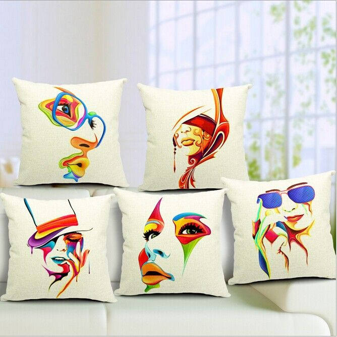 Fabric Design For Pillow Cover: designs of painted cushion covers   Google Search   Painted    ,