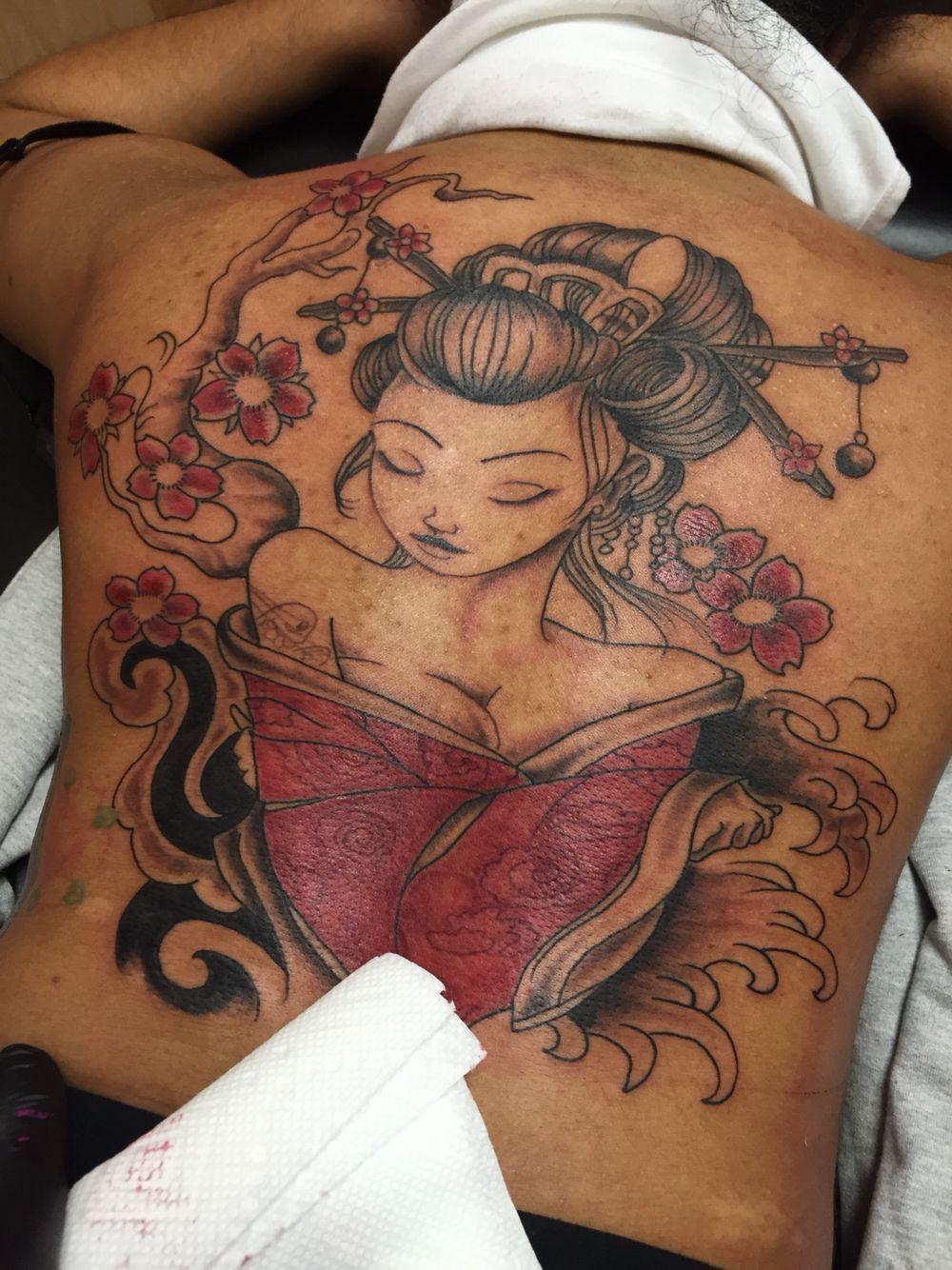Geisha tattoo elegant geisha tattoo picture - Geisha Tattoo Tattoozbylou