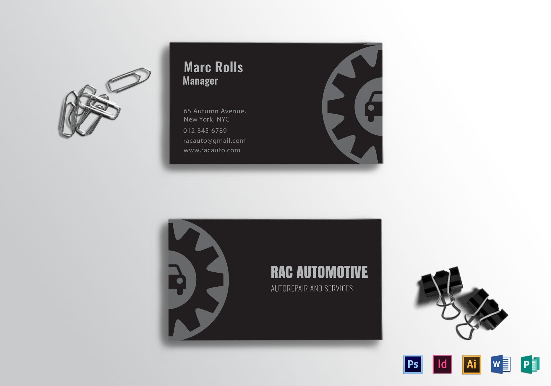 Automotive Business Card Template For Automotive Business Card Templates Sample Profes Free Business Card Templates Card Templates Business Card Template Psd Mechanic business cards template free