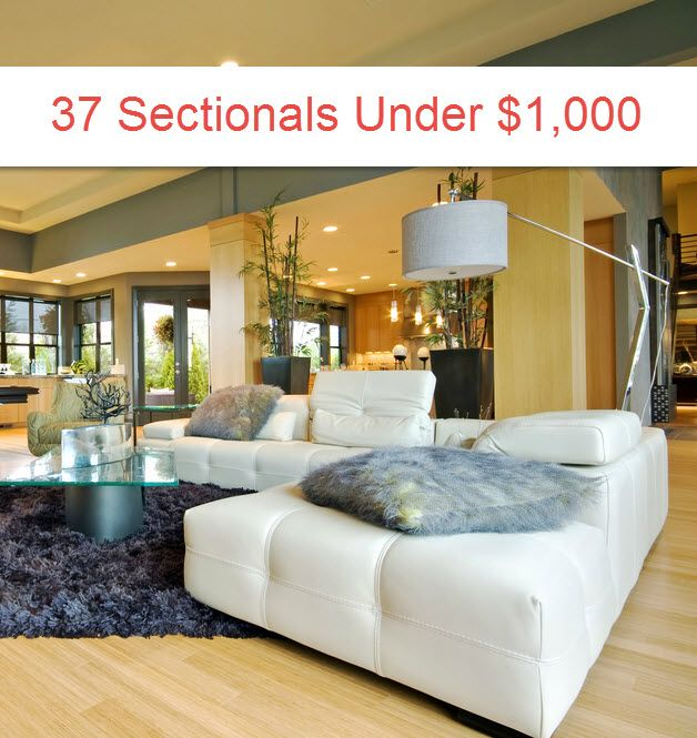 100 Beautiful Sectional Sofas Under $1,000 (2018)